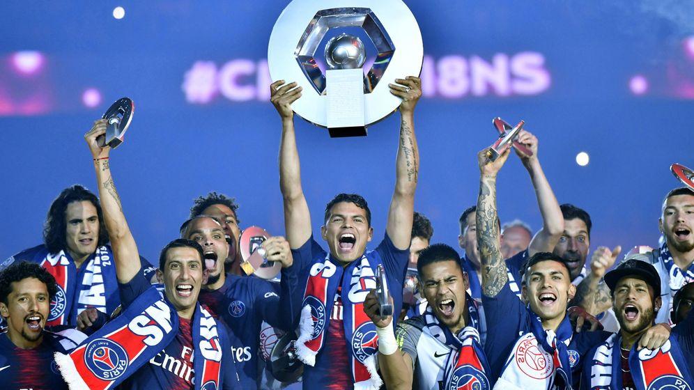 Foto: El PSG celebra el título de liga de 2019 (Reuters)