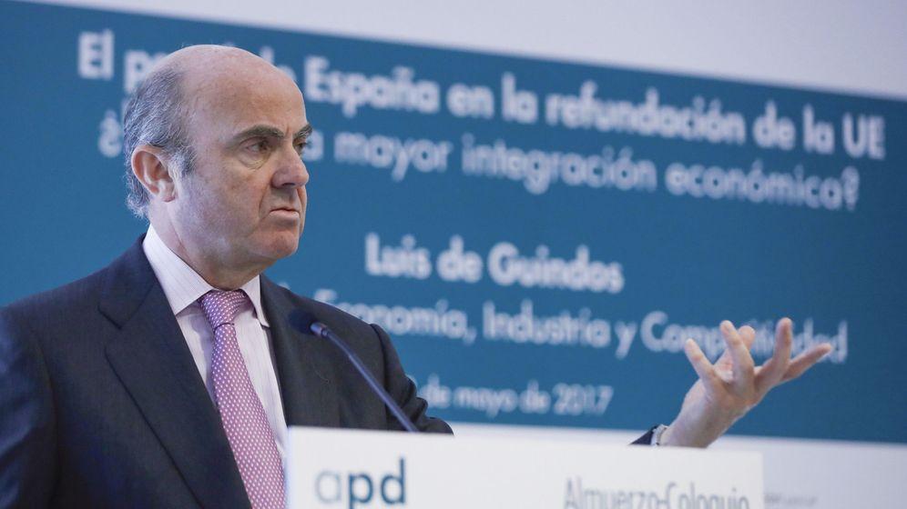 Foto: El ministro de Economía, Industria y Competitividad, Luis De Guindos (Efe)
