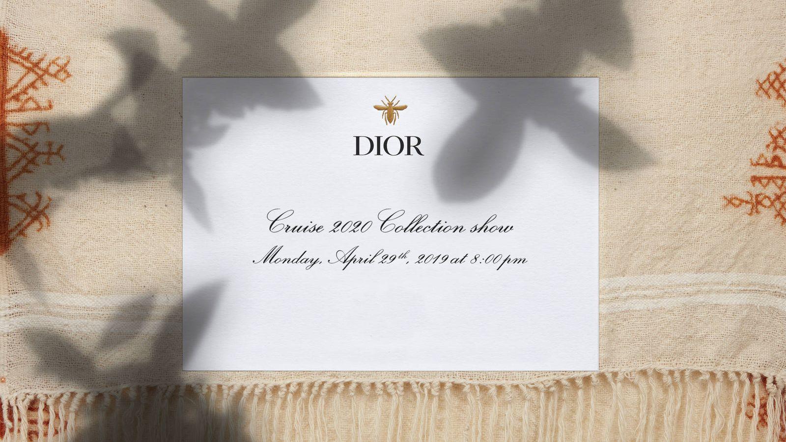 Foto: La invitación al desfile en streaming del que podrás disfrutar en Vanitatis. (Cortesía Dior)