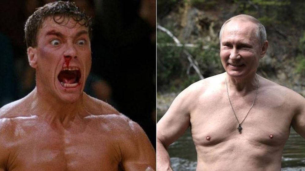 Foto: Van Damme y Putin organizaron una pelea pactada en 2010.