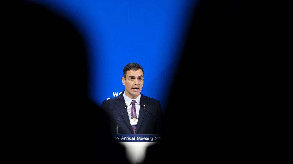 Foto: El presidente del Gobierno, Pedro Sánchez, en Davos. (Reuters)