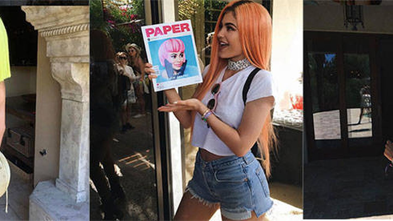 Kylie Jenner y sus diferentes tonos de pelo.