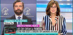 Post de Ana Rosa condena los vetos de Vox a ciertos medios de comunicación