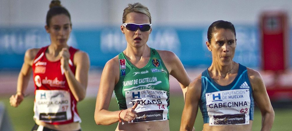 Foto: Takacs, durante un Meetin Iberoamericano de Atletismo (Efe).