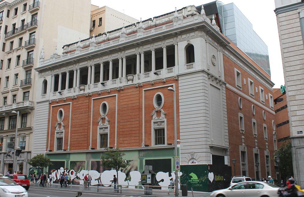 Foto: Edificio del Palacio de la Música, ubicado en la Gran Vía de Madrid