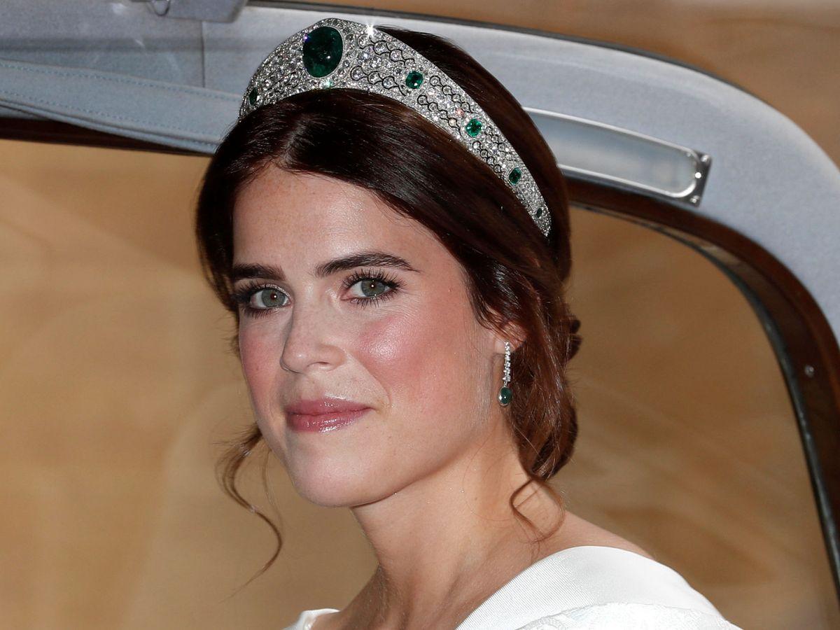 Foto: La princesa Eugenia de York, el día de su boda. (Reuters)