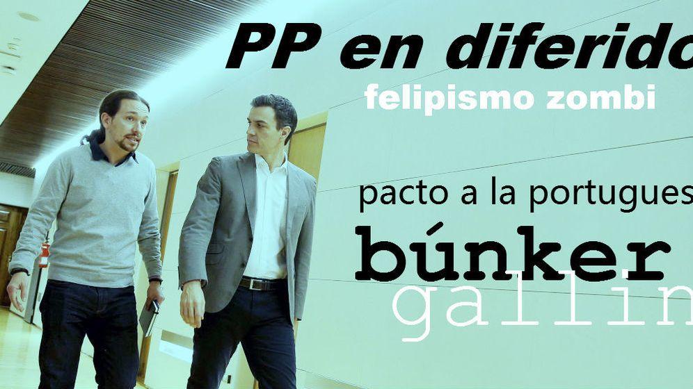Foto:  Pablo Iglesias y Pedro Sánchez.