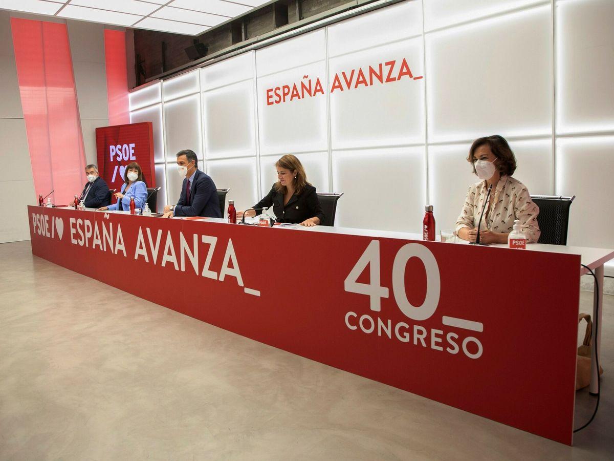 Foto: El presidente del Gobierno, durante una reunión de la ejecutiva socialista. (EFE)