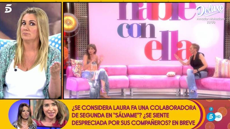 Carlota Corredera, en 'Sálvame'. (Mediaset)