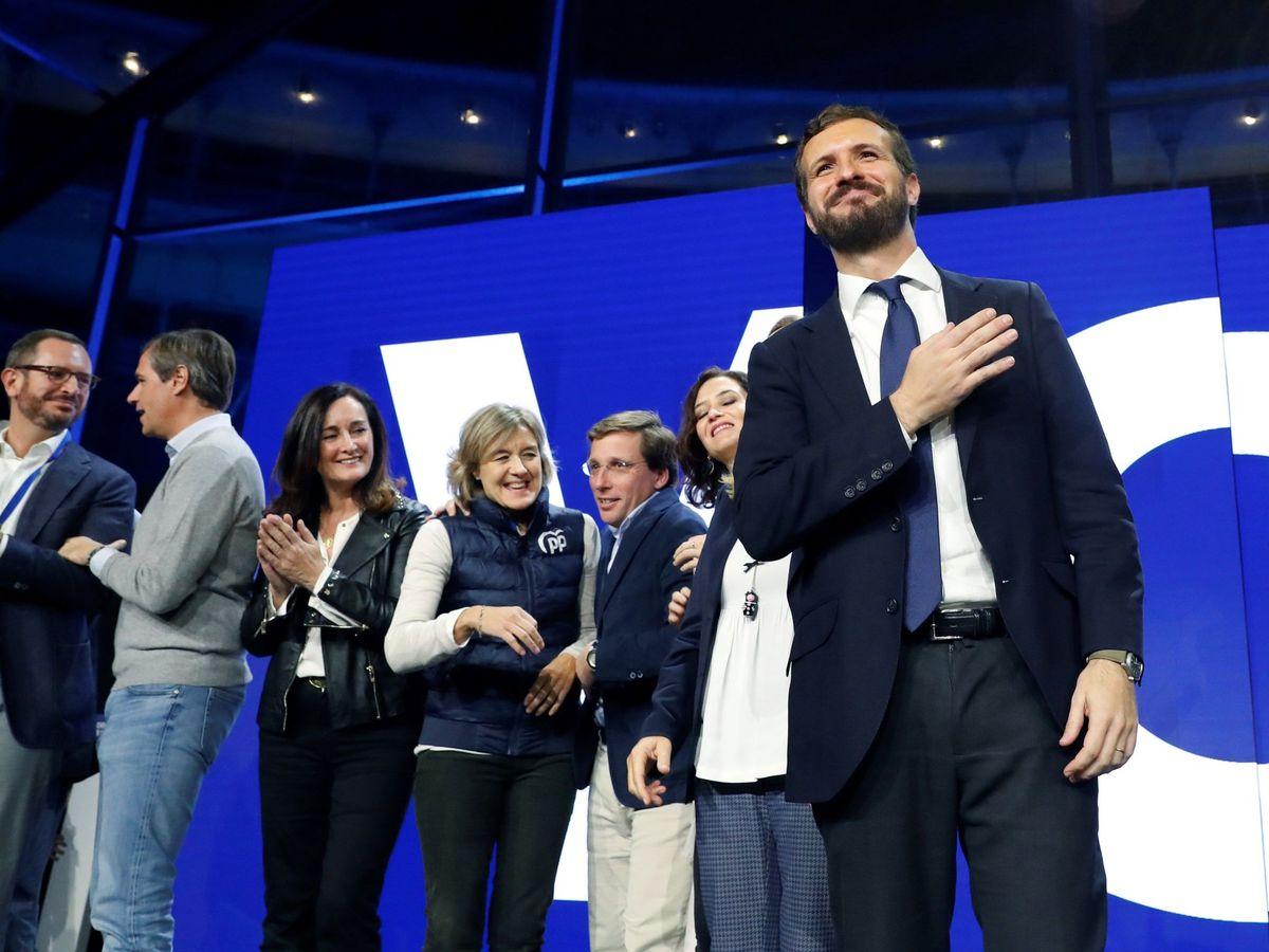 Foto: Pablo Casado, en el cierre de campaña. (EFE)