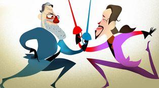 Moción de censura: Iglesias y Rajoy fueron felices