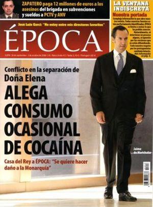 'Época' no depositará la fianza de un millón de euros solicitada por Marichalar