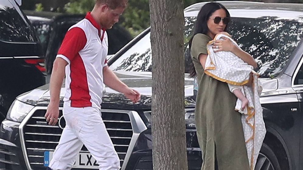 Foto: Meghan Markle y Harry, en el partido de polo benéfico. (Cordon Press)