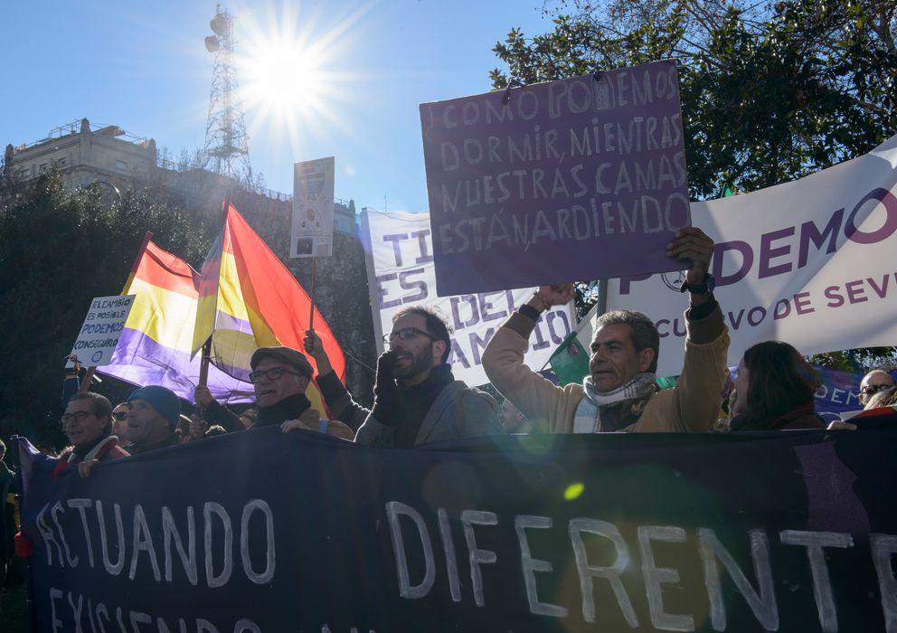 Foto: Marcha del cambio celebrada el pasado sábado en Madrid. (Daniel Muñoz)