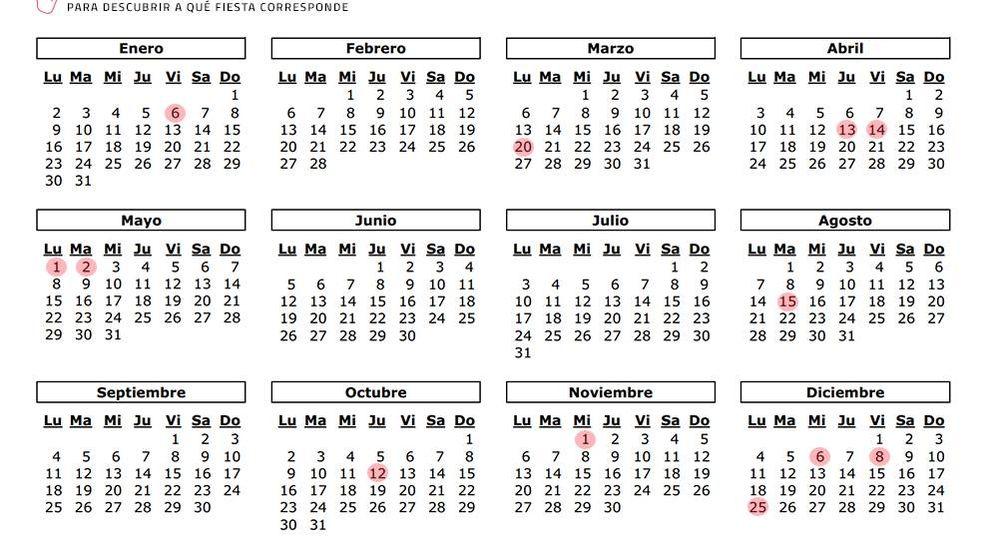 Calendario laboral 2017 en la Comunidad de Madrid