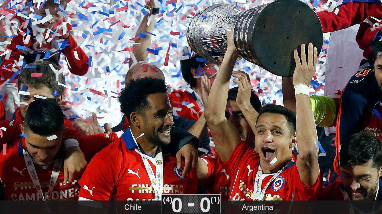 Foto: Alexis también le roba a Messi la gloria americana a la que estaba predestinado