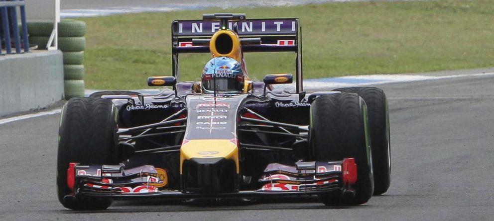 Foto: Sebastian Vettel rodando esta pretemporada en Jerez.