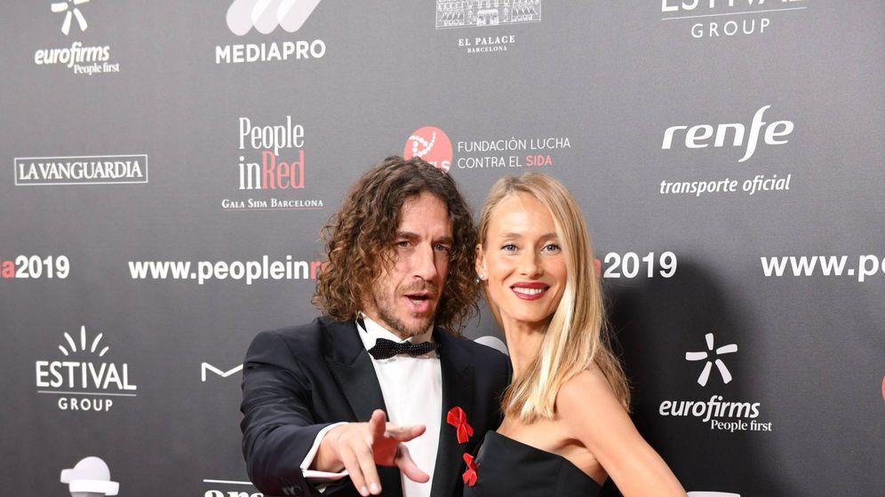 Foto: Carles Puyol y Vanessa Lorenzo. (Cordon Press)