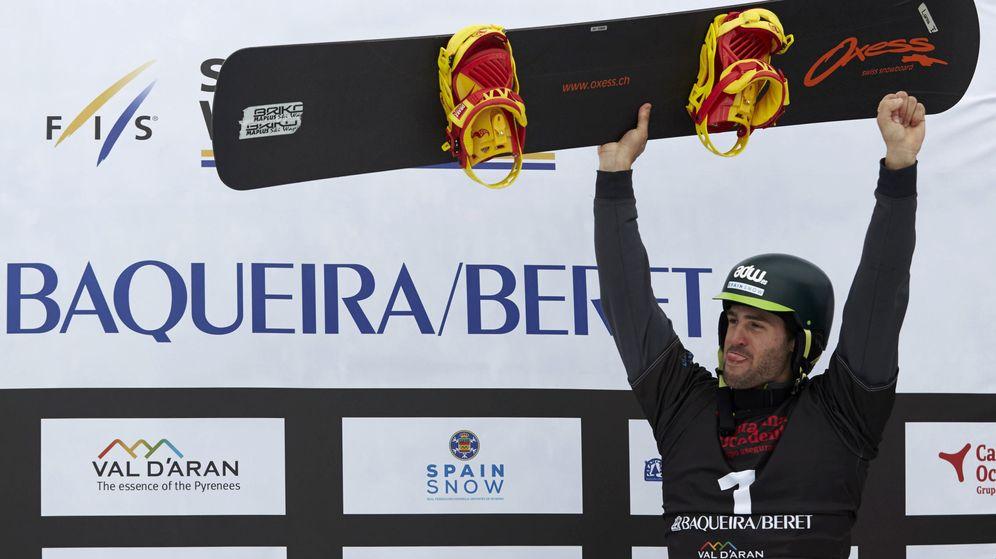 Foto: Lucas Eguibar, en el podio de Baqueira.