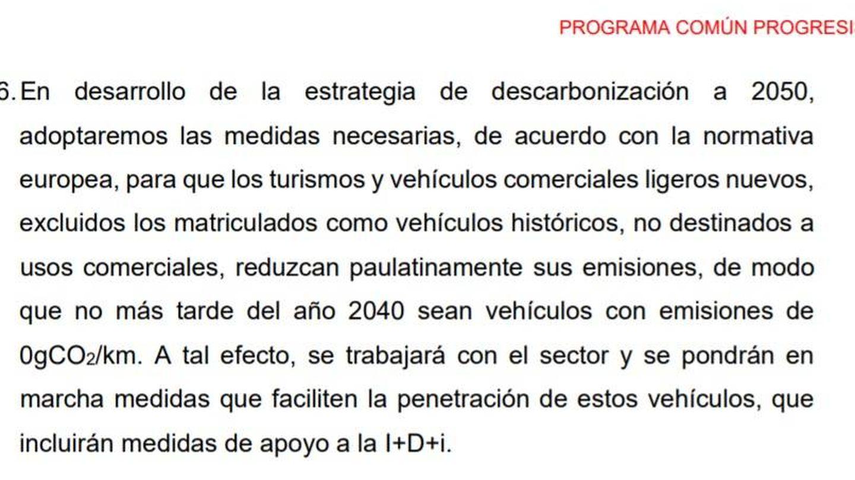 La segunda y última versión de la medida 256 del 'Programa común progresista' del PSOE.