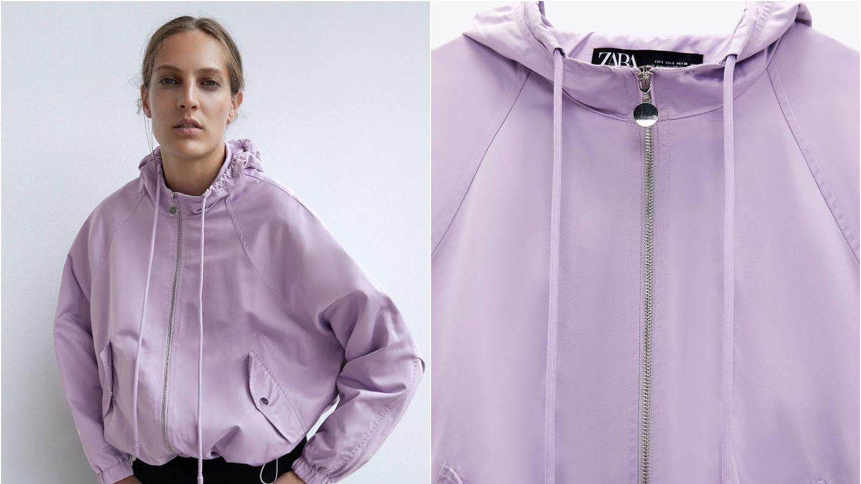 Cazadora impermeable de Zara. (Cortesía)