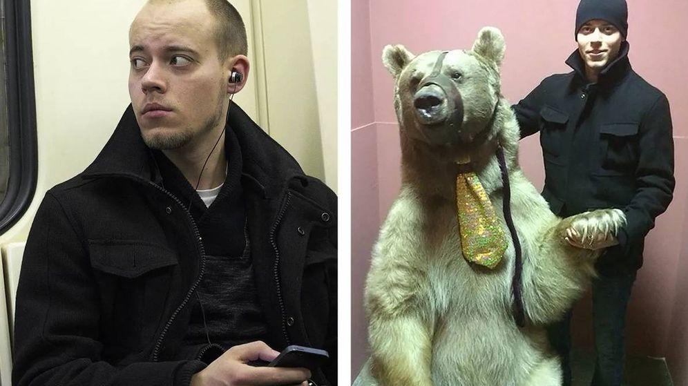 Foto: FindFace localizó el perfil de este hombre a raíz de una 'inocente' foto tomada en el metro (a la izquierda). (Foto: Egor Tsvetkov)