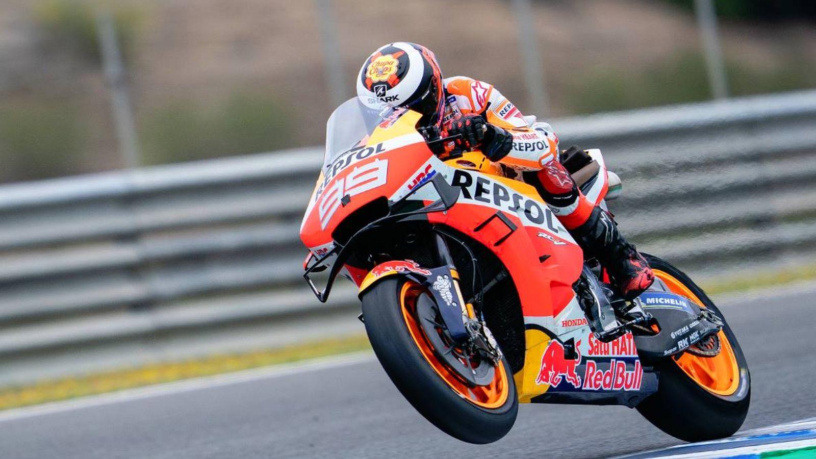 Foto: Jorge Lorenzo, este lunes en el circuito de Jerez.