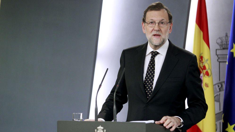 Foto: Mariano Rajoy, durante su comparecencia del domingo. (EFE)