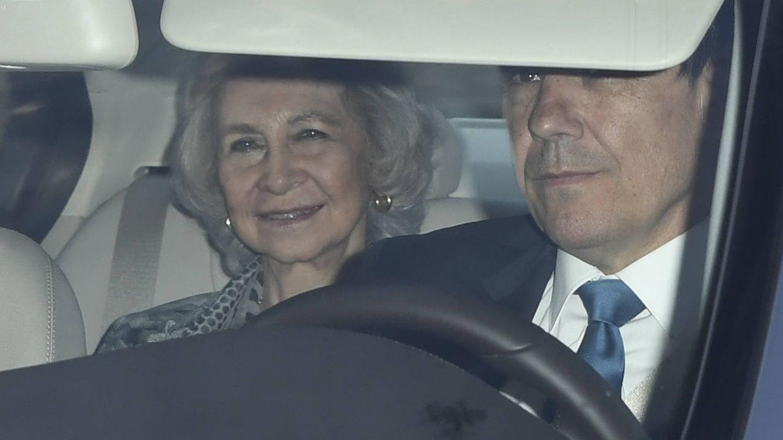 La reina Sofía, llegando a la fiesta. (Limited Pictures)