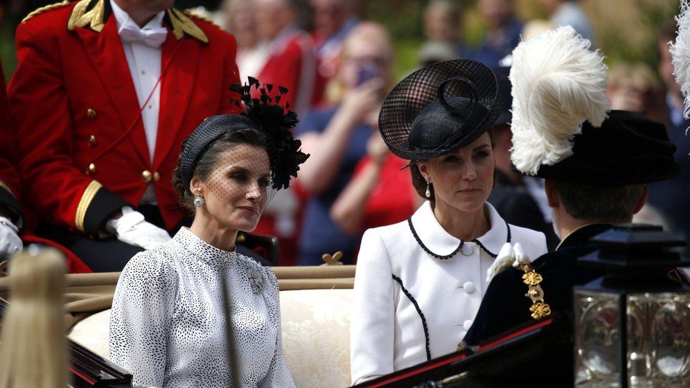 Foto: Letizia y Kate Middleton, este lunes en Londres. (EFE)
