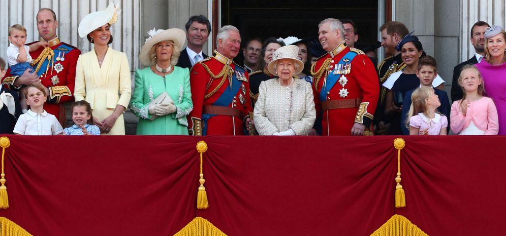 Foto: La familia real británica en el Trooping the Colour. (Reuters)