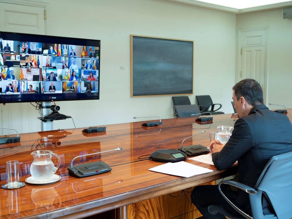 Foto: Pedro Sánchez, durante una conferencia de presidentes autonómicos. (Borja Puig   Pool Moncloa)