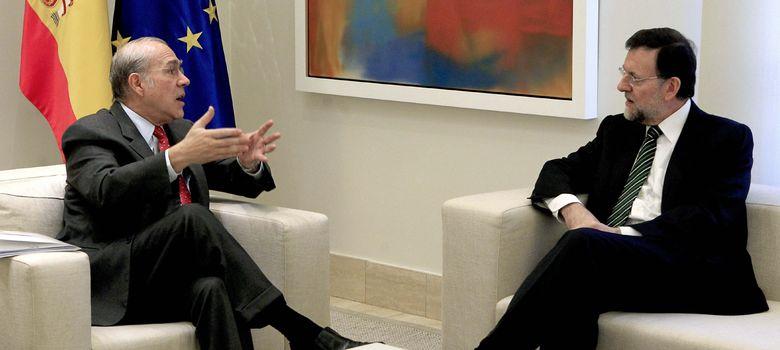 Foto: El secretario general de la OCDE, Ángel Gurría, durante una reunión con el presidente Mariano Rajoy, celebrada el pasado año. (EFE)