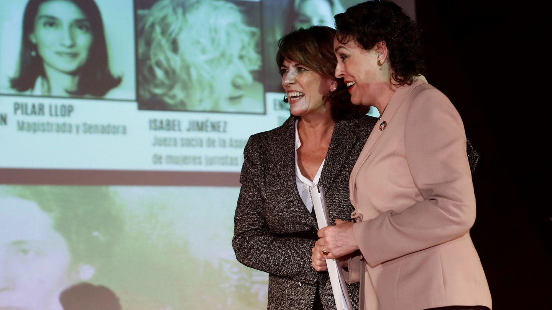 Las ministras Dolores Delgado y Magdalena Valerio, el pasado 23 de octubre en Madrid. (EFE)