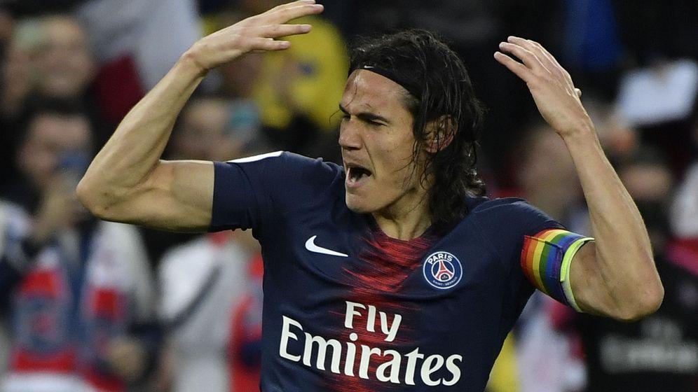 Foto: Edison Cavani celebra un gol con el Paris Saint Germain. (Reuters)