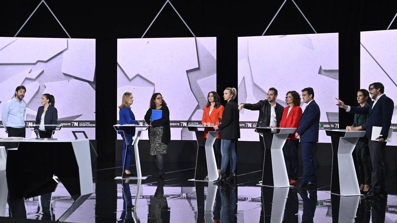 El debate de La Sexta, minutos antes de arrancar. (Atresmedia)
