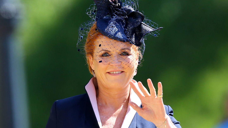 Sarah Ferguson, en la boda del príncipe Harry con Meghan Markle. (Getty)