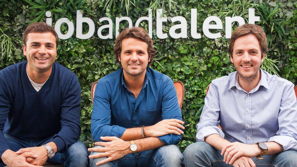 Foto: Félix Ruiz (izq., inversor en Jobandtalent), Juan Urdiales (centro) y Felipe Navío.