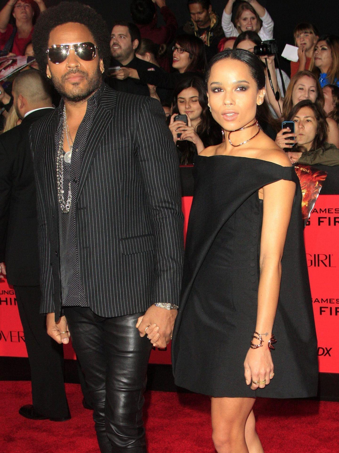 Lenny Kravitz y su hija Zoë, en una imagen de archivo. (EFE)