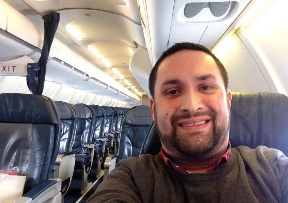 Foto: Chris O'Leary comparte con sus seguidores la imagen del avión vación (Twitter)