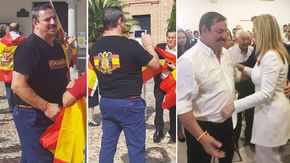 Foto: José Luis Pérez Sánchez, en la concentración de este sábado y días antes con Cristina Cifuentes en la inauguración de la nueva sede del PP de Navalcarnero.