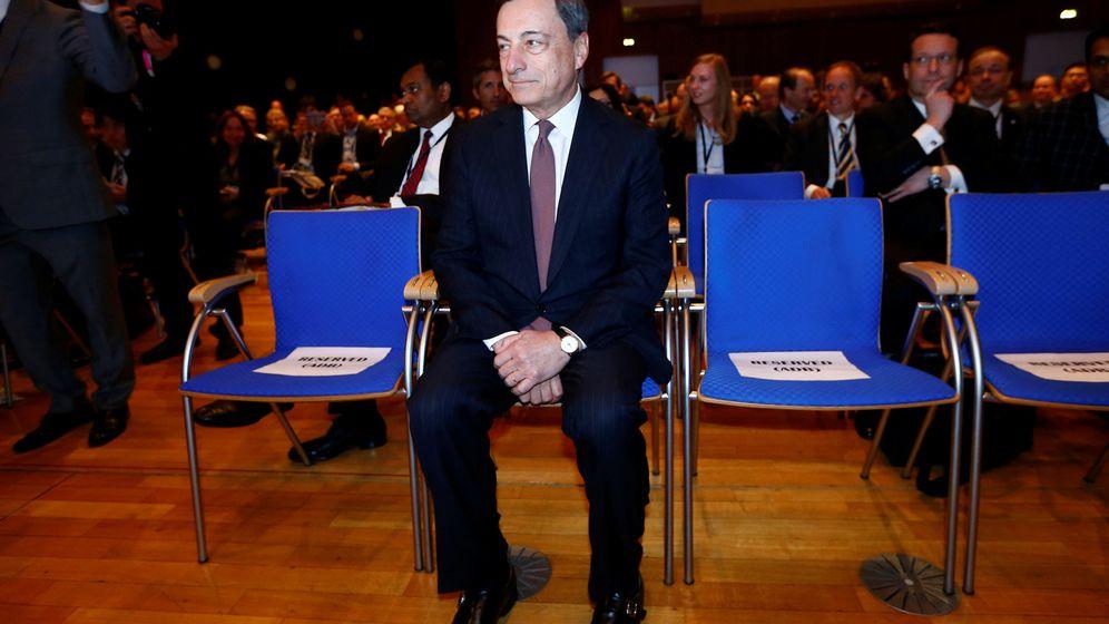 Foto: El presidente del BCE, Mario Draghi, en un acto celebrado en Fráncfort a comienzos de mayo./REUTERS