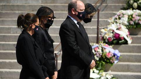 Los Grimaldi, reunidos para el funeral de su prima, Elisabeth-Ann de Massy