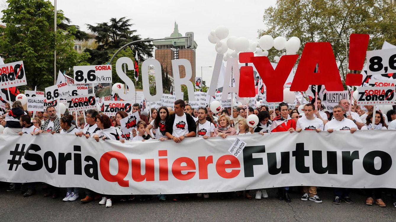 Foto: La cabecera de la manifestación celebrada en Madrid. (EFE)