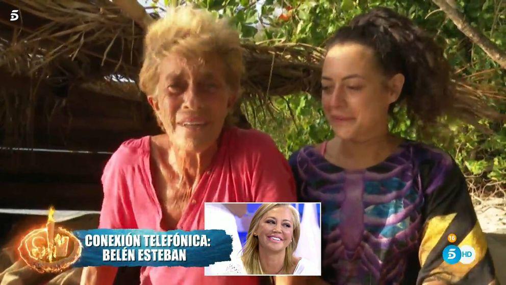 La pullita telefónica de Belén Esteban a Chelo sobre Pantoja en 'Supervivientes'