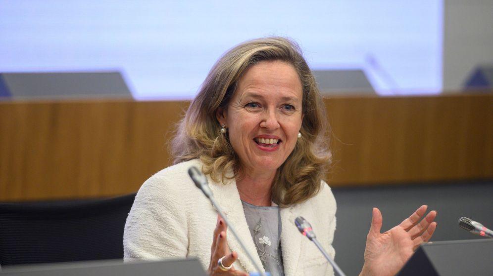 Foto: La ministra de Economía, Nadia Calviño, en un acto. (EFE)