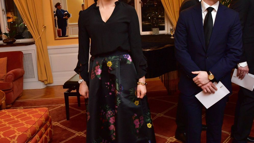 Foto: La princesa Victoria, en la cena. (Cordon Press)