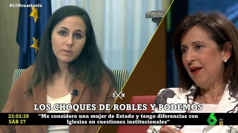 Margarita Robles hablando sobre Ione Belarra. (La Sexta).