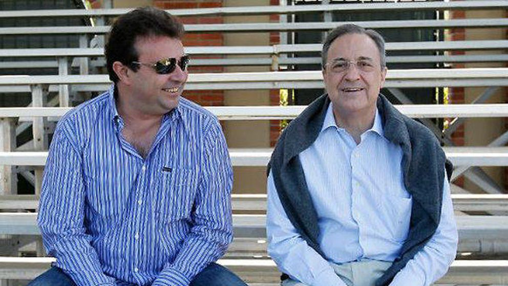 Los dos lacayos de Florentino (Sánchez y Redondo) se llevan como Tom y Jerry