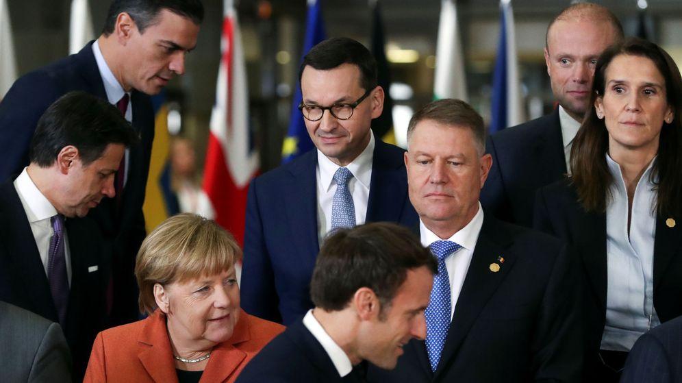 Foto: Pedro Sánchez, junto a otros líderes europeos. (Reuters)